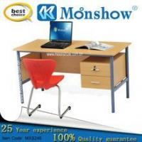 Wholesale Teachers' workbench Teacher wood metal frame desk with 2 drawers from china suppliers