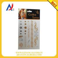 Wholesale tattoo stencil Waterproof Glitter Golden Tattoos from china suppliers