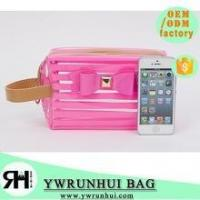 Wholesale High Quality beautiful PVC cosmetic bag stripped Transparent traveling bag from china suppliers