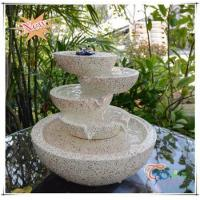 Wholesale Imitate Marble LED Polyresin Indoor Glossy Tiered Pot Small Fountain from china suppliers