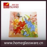 Wholesale hot sale square shape glass tray glass dishes dinner set from china suppliers