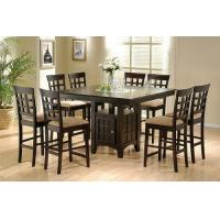 Wholesale Coaster Hyde Counter Height Square Dining Table with Storage Base in Cappuccino(Table only) from china suppliers