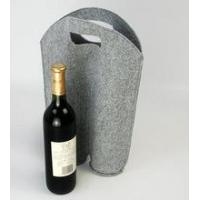 Wholesale 2 bottle felt wine tote bag from china suppliers