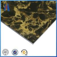 Wholesale aluminum composite panel 2mm marble design ACP sign board from china suppliers