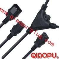 Wholesale one to Two connectors,power cord,power cord three-way connector from china suppliers