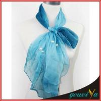 Wholesale Pearl Accessories Chiffon Bule Scarf from china suppliers