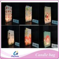 China Fire-resistant paper candle bag wholesale