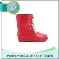 China Manufacturer Environmental solid pink cute lace rubber boot