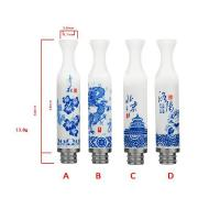 Wholesale Ceramic Blue Porcelain drip tips from china suppliers