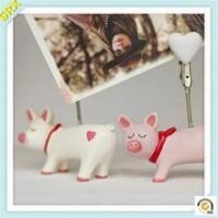 Wholesale Fashion piggy heart shape memo clip holder OEM pig memo pad holder plastic clip from china suppliers