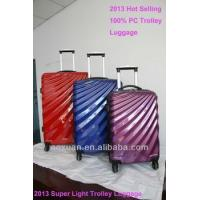 Wholesale hard luggage 2014 Hot sell lightweight polycarbonate luggage trolley luggage from china suppliers