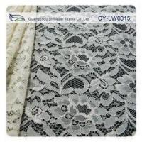 Wholesale Nylon Viscose Corded Lace Fabric For Clothing 145CM - 150 CM Width CY-LW0015 from china suppliers