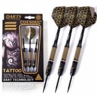 Wholesale CUESOUL TATTOO Series 23g Black Coated Brass Steel Tip Darts,with Unique Pattern Engraved from china suppliers