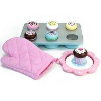 Wholesale Melissa & Doug Bake and Decorate Wooden Cupcake Play Food Set from china suppliers