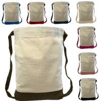 Canvas Two-Tone Drawstring Sport Bag/Backpack 3 out of 5