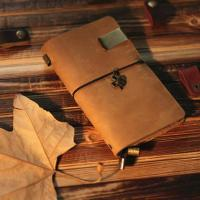 China Genuine leather travel notebook wholesale