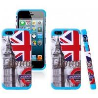 iPhone 5 5S Hybrid Printing different design Rubber Rugged Combo Matte Case Hard Cover