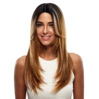 Buy cheap Wig Rebecca Ombre Blonde Synthetic Straight Hair Lace Front Wig 24 Inch from wholesalers