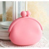 Wholesale Dumpling Shape Pink Silicone Coin Purse Key Wallet Great for Gifts from china suppliers