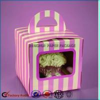 Wholesale Mini Single Cupcake Package Box With Window from china suppliers