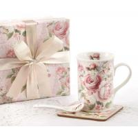 Wholesale Clearance Rose Mug Spoon Coaster Gift Boxed Set from china suppliers