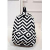 China Wholesale Custom Canvas Monogrammed Chevron Backpack wholesale
