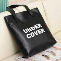 Handbags PU Letter UNDER COVER Black