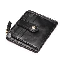 Itslife Women's Genuine Leather Card Case Wallet with Zipper
