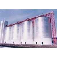 Flat bottom steel silo