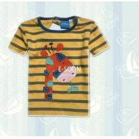Wholesale Stripes print combed shirts kids soft cotton shirts round ne from china suppliers