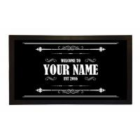 Wholesale Custom Printed Bar Runner Welcome To Your Name's Bar Drip Spill Mat from china suppliers