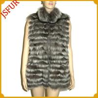 Wholesale Horizontal Fox fur vest with turnover collar from china suppliers