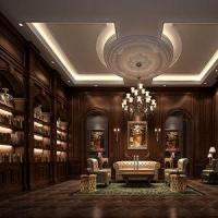 Wholesale Project Rendering Luxury European Style Classic Library Render Interior Design Renderings from china suppliers