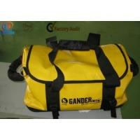 China yellow tarpaulin outdoor waterproof travel bag wholesale