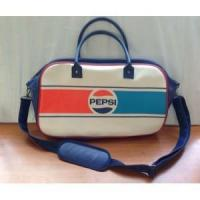 China PU leather fashion PEPSI travel bag wholesale
