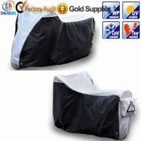 China 210D silver waterproof motorcycle cover wholesale