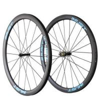 2017 OEM super light 40mm clincher tubeless ready 27mm width carbon wheel bicycle wheels
