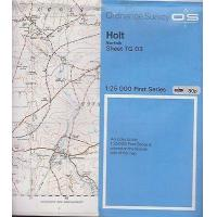 1955 1:25 000 Ordnance Survey Map- 'Holt (Norfolk) inc. Melton Constable etc.
