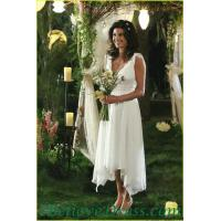 Wholesale Floral Tia Mowry One Shoulder Empire Line Maternity Wedding Bridal Gowns Elegant Patterns from china suppliers