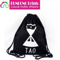 Wholesale Black Cotton Canvas Drawstring Cinch Up Bags (KLCCDB-002) from china suppliers