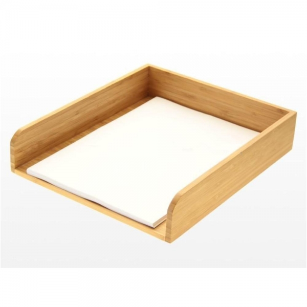 Quality Wooden Tray Handmade Bamboo Office A4 Pape for sale