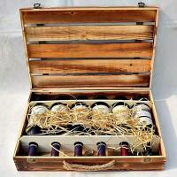 Wholesale Wooden Wine Box Burning Effect 6 Bottles Wood from china suppliers