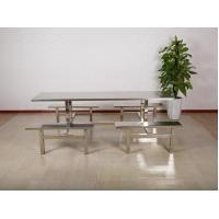 Wholesale Stainless steel dining room to eat desk and chair from china suppliers