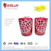 Glass printing glass candle holder