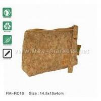 Wholesale ECO natural recycled cork wallets purses pouches from china suppliers