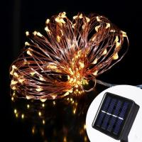 Wholesale 100 Bulbs Copper Wire Solar LED String Light from china suppliers