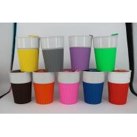 Ceramic Travel Mugs with Silicone Lid and Grip