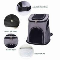 CB005L-GR Fashionable Backpack for Pets up to 17LBS-Comfort Travel Pet Carrier