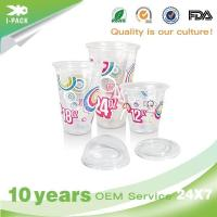 6 OZ Personlized Clear Nice Plastic Cups with Straw