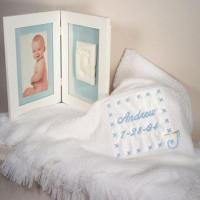 Wholesale Personalized Baby Gifts Baby Blanket & Keepsake Frame Personalized Baby Boy Gift from china suppliers